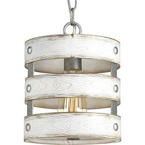 P500022-141: Gulliver Galvanized One-Light Mini Pendant