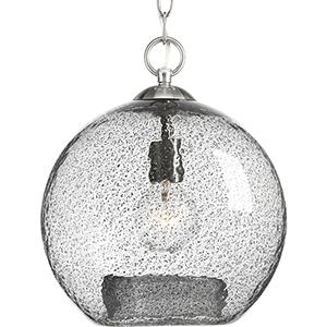 P500063-009: Malbec Brushed Nickel One-Light Pendant
