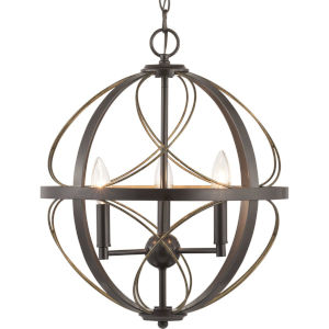 Brandywine Antique Bronze Three-Light Pendant