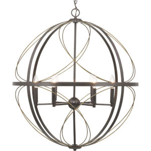 Brandywine Antique Bronze Six-Light Pendant