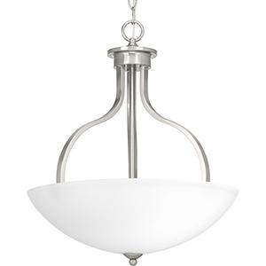 P500071-009: Laird Brushed Nickel Three-Light Pendant