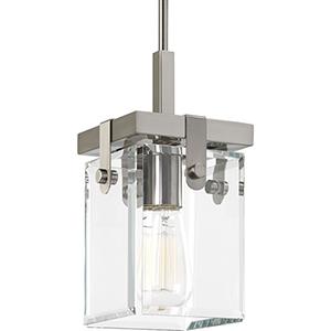 P500073-009: Glayse Brushed Nickel One-Light Mini Pendant