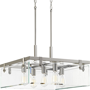 P500074-009: Glayse Brushed Nickel Five-Light Pendant