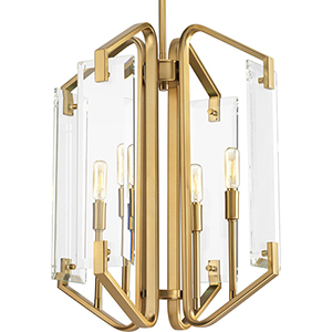 P500076-109: Cahill Brushed Bronze Four-Light Chandelier