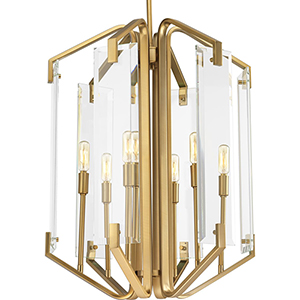 P500077-109: Cahill Brushed Bronze Six-Light Chandelier
