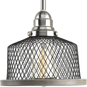 P500078-009: Tilley Brushed Nickel One-Light Mini Pendant