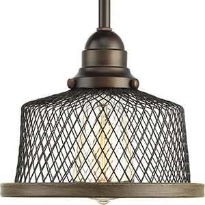 P500078-020: Tilley Antique Bronze One-Light Mini Pendant