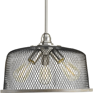 P500079-009: Tilley Brushed Nickel Three-Light Pendant