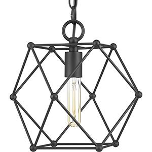 P500082-031: Spatial Black One-Light Pendant