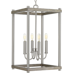 P500088-009: Fontayne Brushed Nickel Four-Light Pendant