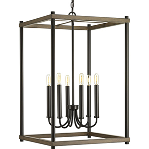P500089-020: Fontayne Antique Bronze Six-Light Pendant