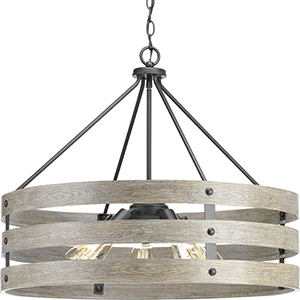 P500090-143: Gulliver Graphite Five-Light Pendant