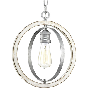 P500092-141: Conestee Galvanized One-Light Pendant