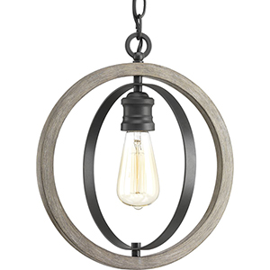 P500092-143: Conestee Graphite One-Light Pendant