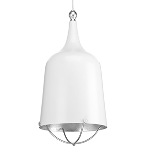 P500098-030: Era White One-Light Pendant