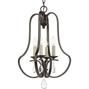 P500099-020: Anjoux Antique Bronze Four-Light Chandelier