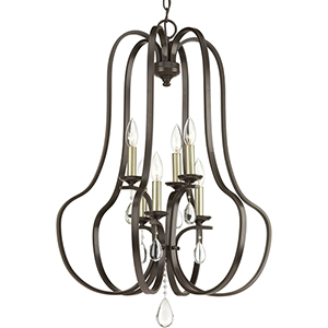 P500100-020: Anjoux Antique Bronze Six-Light Chandelier
