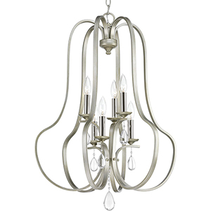 P500100-134: Anjoux Silver Ridge Six-Light Chandelier