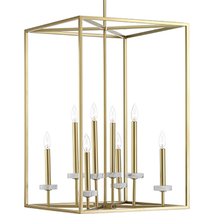 P500106-078: Palacio Vintage Gold Eight-Light Pendant