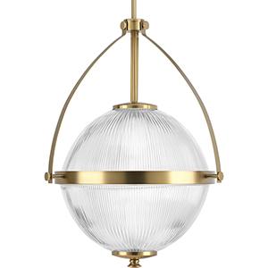 P500118-109: Ellyson Brushed Bronze One-Light Pendant