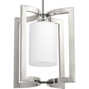 P500123-104: Celeste Polished Nickel One-Light Pendant