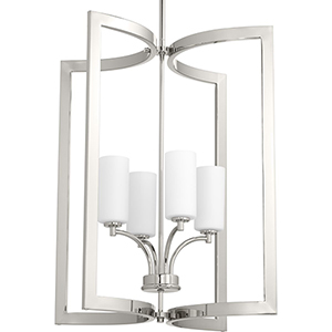 P500124-104: Celeste Polished Nickel Four-Light Pendant