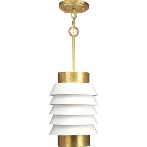 Onshore Brushed Brass One-Light Mini-Pendant