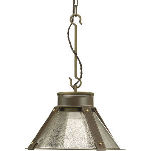 Rockdance Aged Brass 15-Inch One-Light Pendant