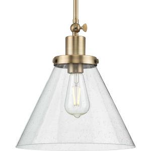 Hinton Vintage Brass One-Light Pendant