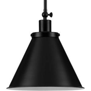 Hinton Matte Black One-Light Pendant