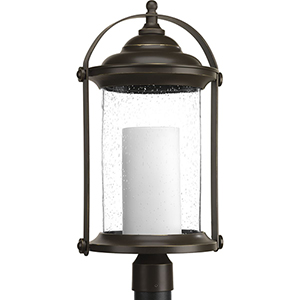 P540026-020-30: Whitacre Antique Bronze Energy Star LED Outdoor Post Lantern