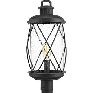 P540029-031: Hollingsworth Black One-Light Outdoor Post Lantern