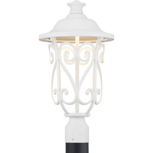 White LED One-Light Outdoor Post Lantern