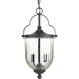 P550023-031: McPherson Black Two-Light Outdoor Pendant