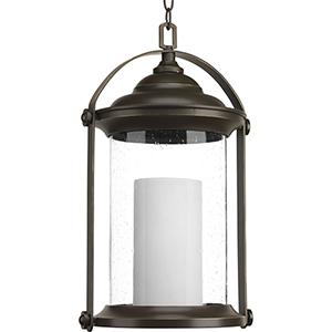 P550026-020-30: Whitacre Antique Bronze Energy Star LED Outdoor Pendant