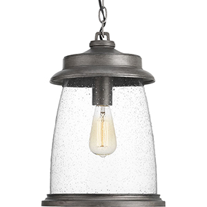P550030-103: Conover Antique Pewter One-Light Outdoor Pendant
