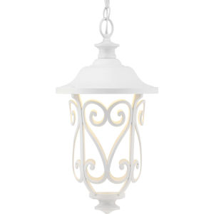 White LED One-Light Outdoor Hanging Lantern