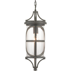 Morrison Antique Bronze One-Light Outdoor Hanging Lantern With Transparent Glass