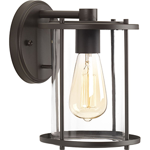 P560057-020: Gunther Antique Bronze One-Light Outdoor Wall Sconce