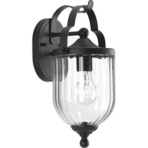 P560062-031: McPherson Black One-Light Outdoor Wall Sconce