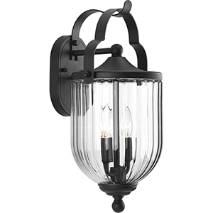 P560063-031: McPherson Black Two-Light Outdoor Wall Sconce