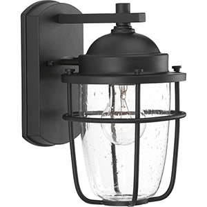 P560065-031: Holcombe Black One-Light Outdoor Wall Sconce