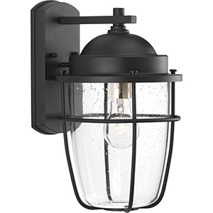 P560066-031: Holcombe Black One-Light Outdoor Wall Sconce