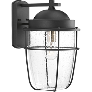 P560067-031: Holcombe Black One-Light Outdoor Wall Sconce