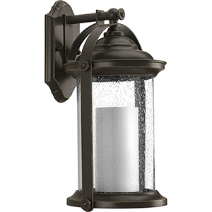P560069-020-30: Whitacre Antique Bronze Energy Star LED Outdoor Wall Sconce