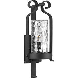 P560075-031: Hermosa Black One-Light Outdoor Wall Sconce