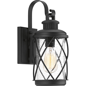 P560080-031: Hollingsworth Black One-Light Outdoor Wall Sconce