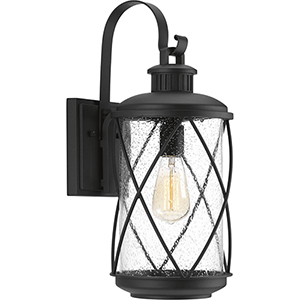 P560081-031: Hollingsworth Black One-Light Outdoor Wall Sconce