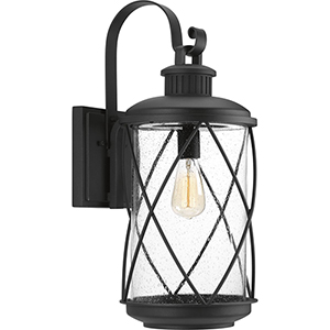 P560082-031: Hollingsworth Black One-Light Outdoor Wall Sconce