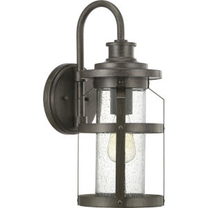 Haslett Antique Pewter One-Light Outdoor Wall Lantern